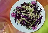 #节后清肠大作战#紫甘蓝拌豆腐丝的做法