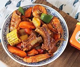 #一勺葱伴侣,成就招牌美味#灵魂下饭菜排骨鸡翅鲜虾煲的做法
