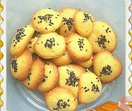 芝麻蛋黄饼干的做法