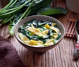 菠菜虾皮蛋皮汤的做法