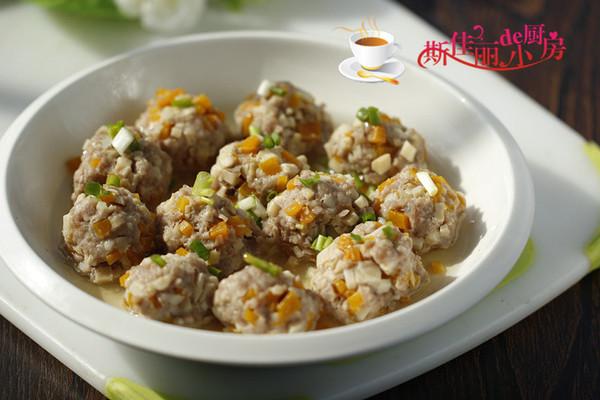 南瓜杏鲍菇肉丸子的做法