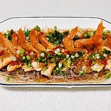 简单易学的蒜蓉粉丝蒸大虾