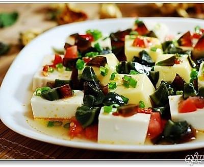 西红柿皮蛋豆腐