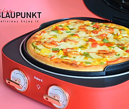 #快手又营养,我家的冬日必备菜品#鲜虾披萨的做法
