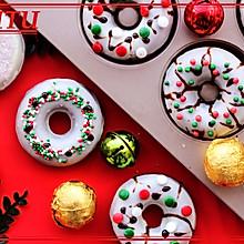 圣诞甜甜圈蛋糕