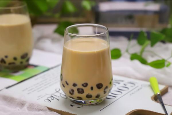 香浓Q弹无添加的珍珠奶茶的做法
