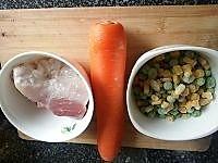 豌豆玉米炒肉丁的做法图解1