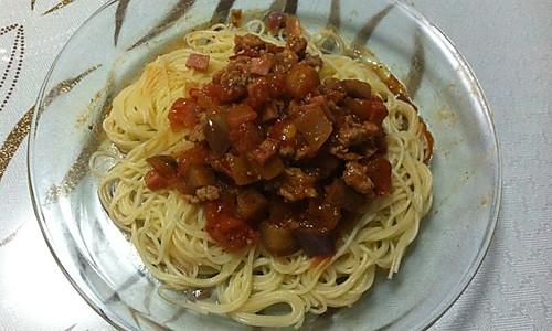 茄丁肉酱意面的做法