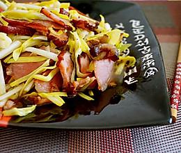 腊肉炒韭黄#菁选酱油试用之#的做法