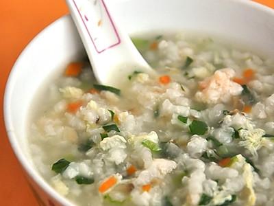五彩鲜虾粥的做法