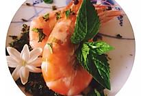 简单的水煮薄荷虾的做法