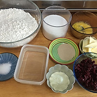 蔓越莓甜心排包(直接法)的做法图解2
