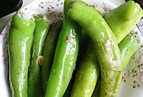 青椒灌肉的做法