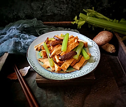 香菇芹菜炒香干的做法