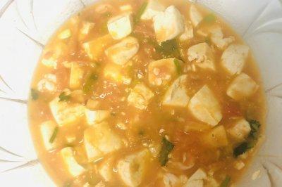 番茄豆腐鲜虾煲