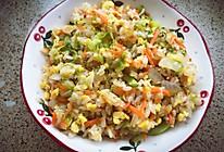 胡萝卜卷心菜洋葱鸡蛋炒饭的做法