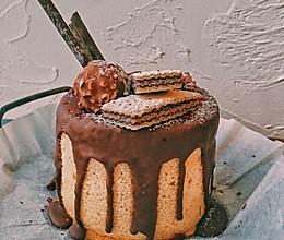 巧克力淋面戚风蛋糕的做法