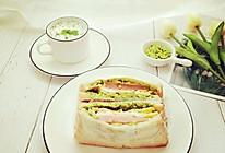 牛油果火腿鸡蛋三明治的做法