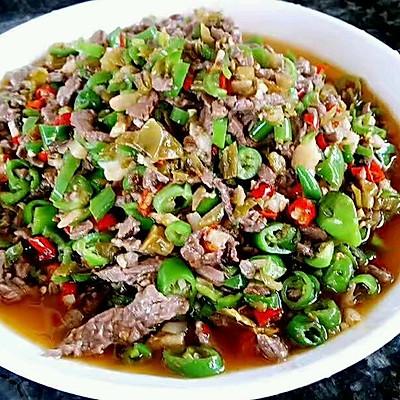 李孃孃爱厨房之——酸菜炒牛肉