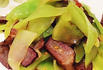 青笋炒腊肉的做法