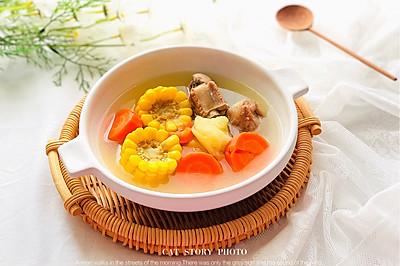 红萝卜玉米土豆猪骨汤