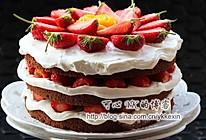 巧克力草莓裸蛋糕#长帝烘焙节华北赛区#的做法