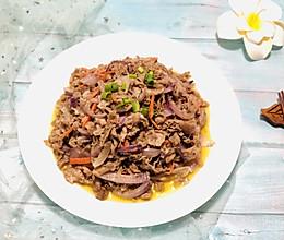 洋葱炒羊肉片的做法