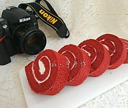 红丝绒蛋糕卷(红丝绒原液版)的做法