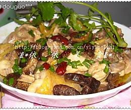 香菇红枣蒸鸡的做法