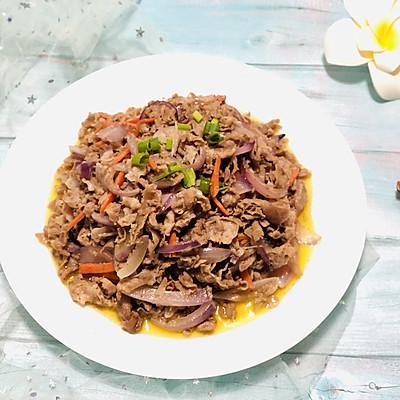 洋葱炒羊肉片