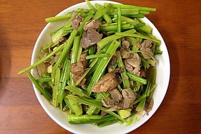 「超快手」芹菜炒肉