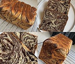 大理石纹面包「巧克力吐司」的做法