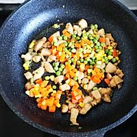减脂鸡丁杂蔬炒藜麦的做法图解5