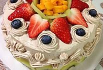 鲜奶水果蛋糕的做法