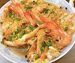 #我们约饭吧#蒜蓉蒸虾的做法