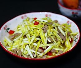 蒜黄炒肉的做法