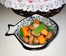 西芹花生米的做法