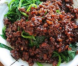 肉沫菠菜的做法