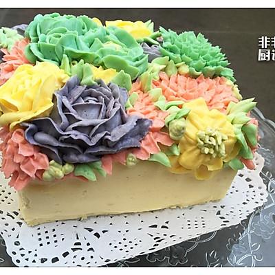 裱花蛋糕之奶酪霜的做法 步骤11