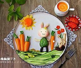 小兔的胡萝卜儿童餐的做法