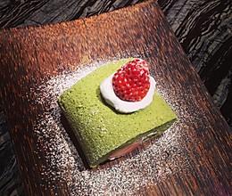 {日式甜点}低糖版抹茶草莓卷的做法