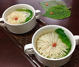 菊花豆腐汤的做法