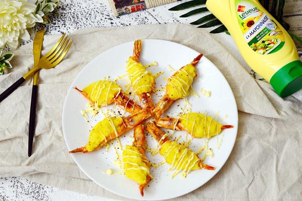 土豆泥蛋黄酱焗白虾#法国乐禧瑞,百年调味之巅#的做法