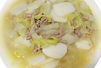 #换着花样吃早餐#大白菜肉丝炒年糕的做法