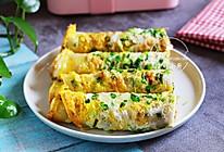 快手营养早餐~葱花鸡蛋卷饼的做法