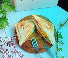 #合理膳食 营养健康进家庭#培根三明治的做法