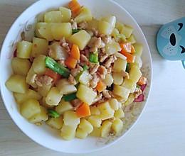 #冰箱剩余食材大改造#肉沫炒土豆的做法