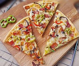 杂菇培根披萨的做法
