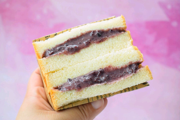 #硬核菜谱制作人#紫米三明治的做法