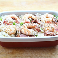 鲜虾焗饭#美的微波炉菜谱#的做法图解9